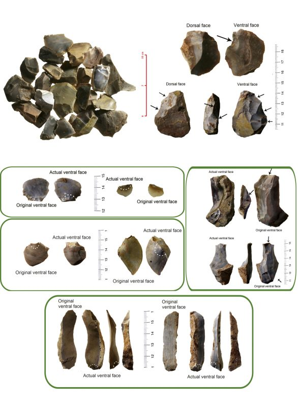 Qesem Cave lithic recycling