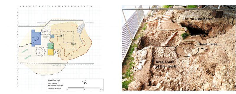 Qesem Cave map