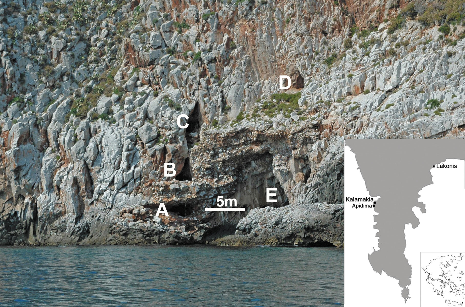 Fig. 1: The Apidima Cave Complex from outside