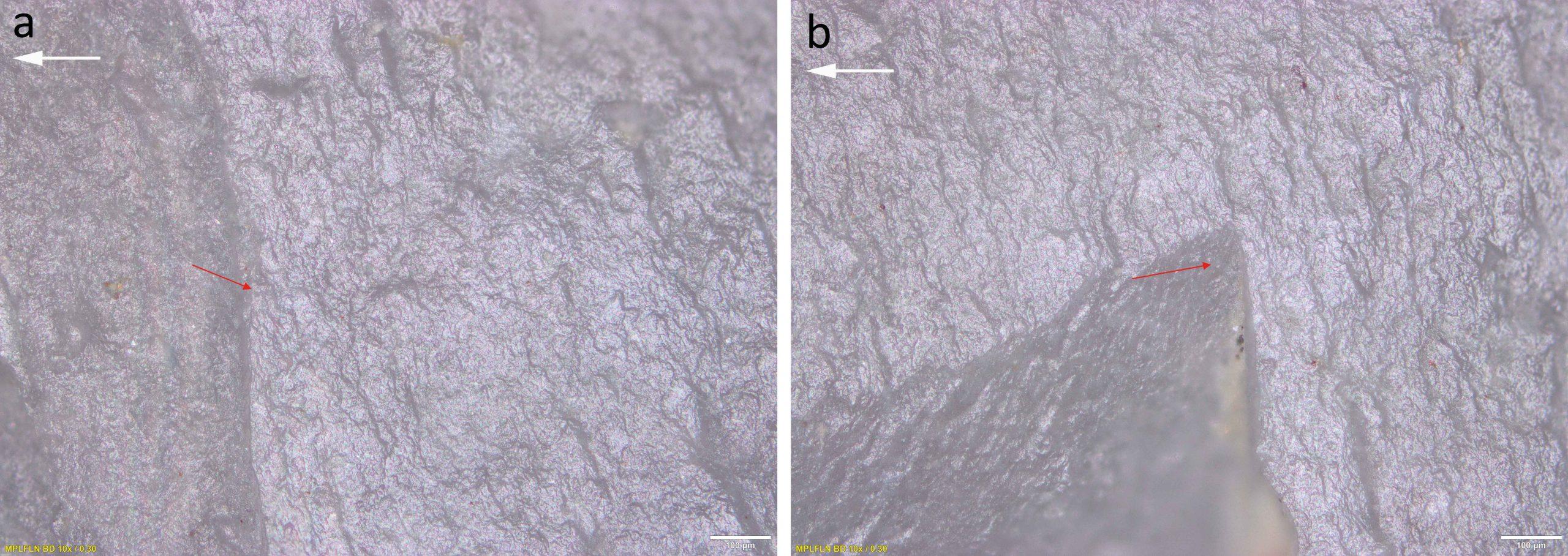 Mikroskopische lineare Aufprallspuren (MLITs) vom Aufprall