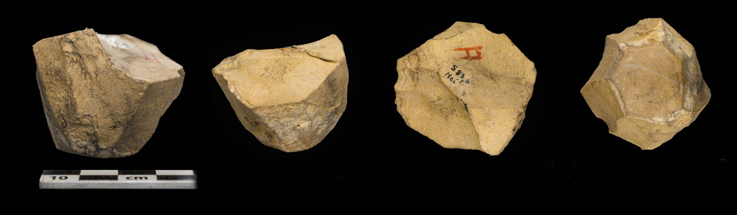Pyramidal frustum-shaped core